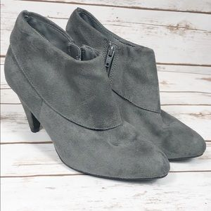 Fioni Grey Ankle Booties